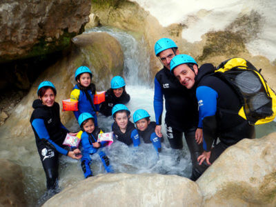 Initiation canyoning enfants
