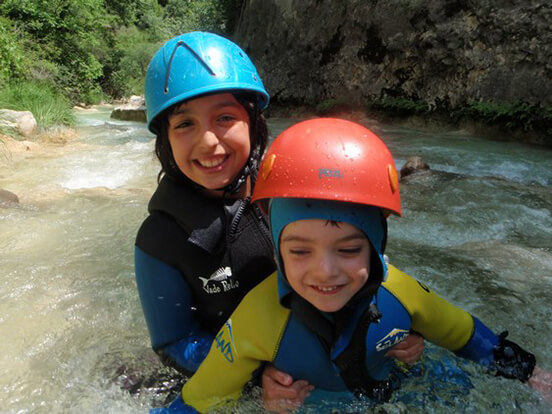 Canyoning avec enfants sierra de guara