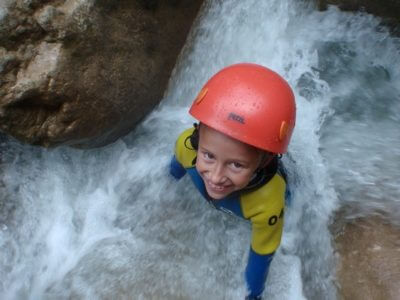 Canyoning Guara Aquezar enfants