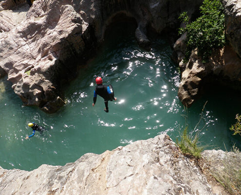 canyoning en guara alquezar
